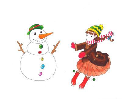 Illustration de Noël aux feutres pour artistes Graph'O par Josephine Lecouteux