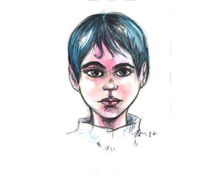 Portrait de garçon aux feutres pour artistes Graph'O par Lionel Calmejane