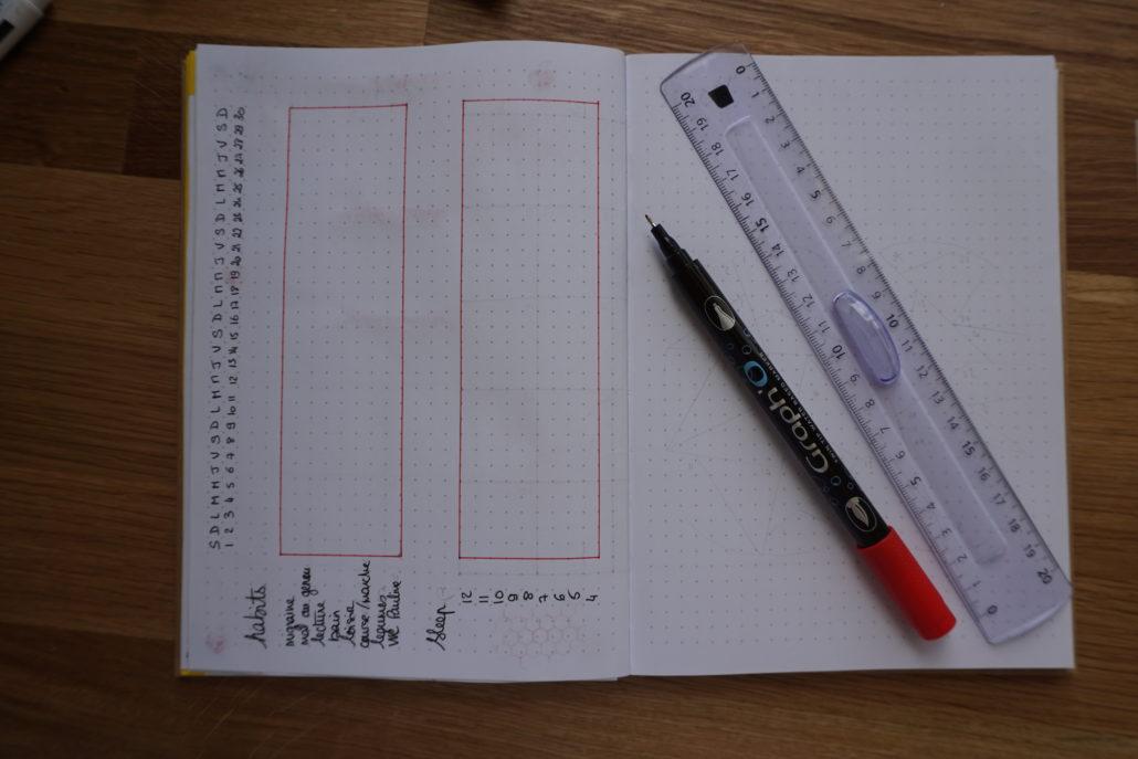 décorer la page tracker bujo