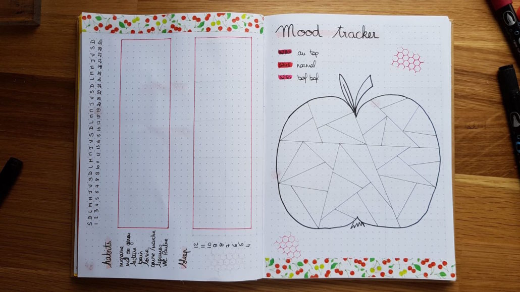 page tracking bullet journal